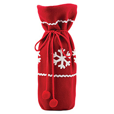 FLEECE APPLIQUE SNOWFLAKE BOTTLE BAG-P9 2013