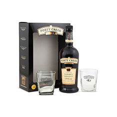 FORTY CREEK BARREL SELECT WITH GLASSES